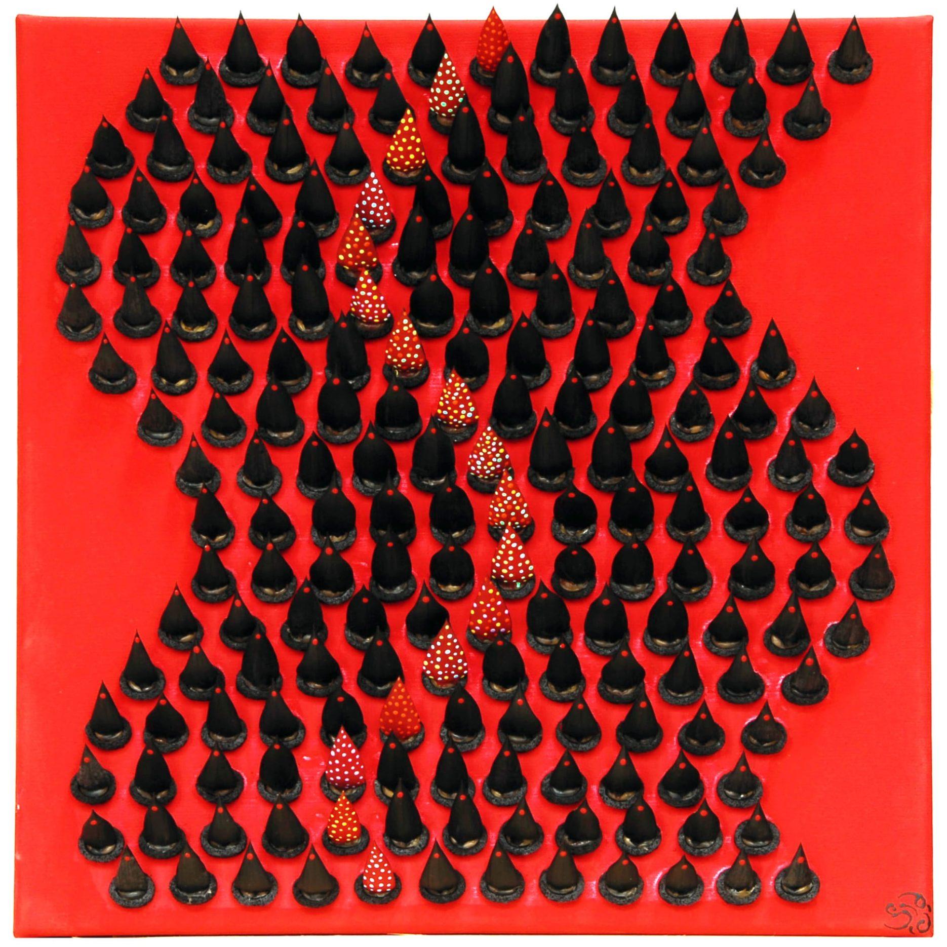 Bild 0,40 x 0,40m – Aurokarienstacheln (2012)