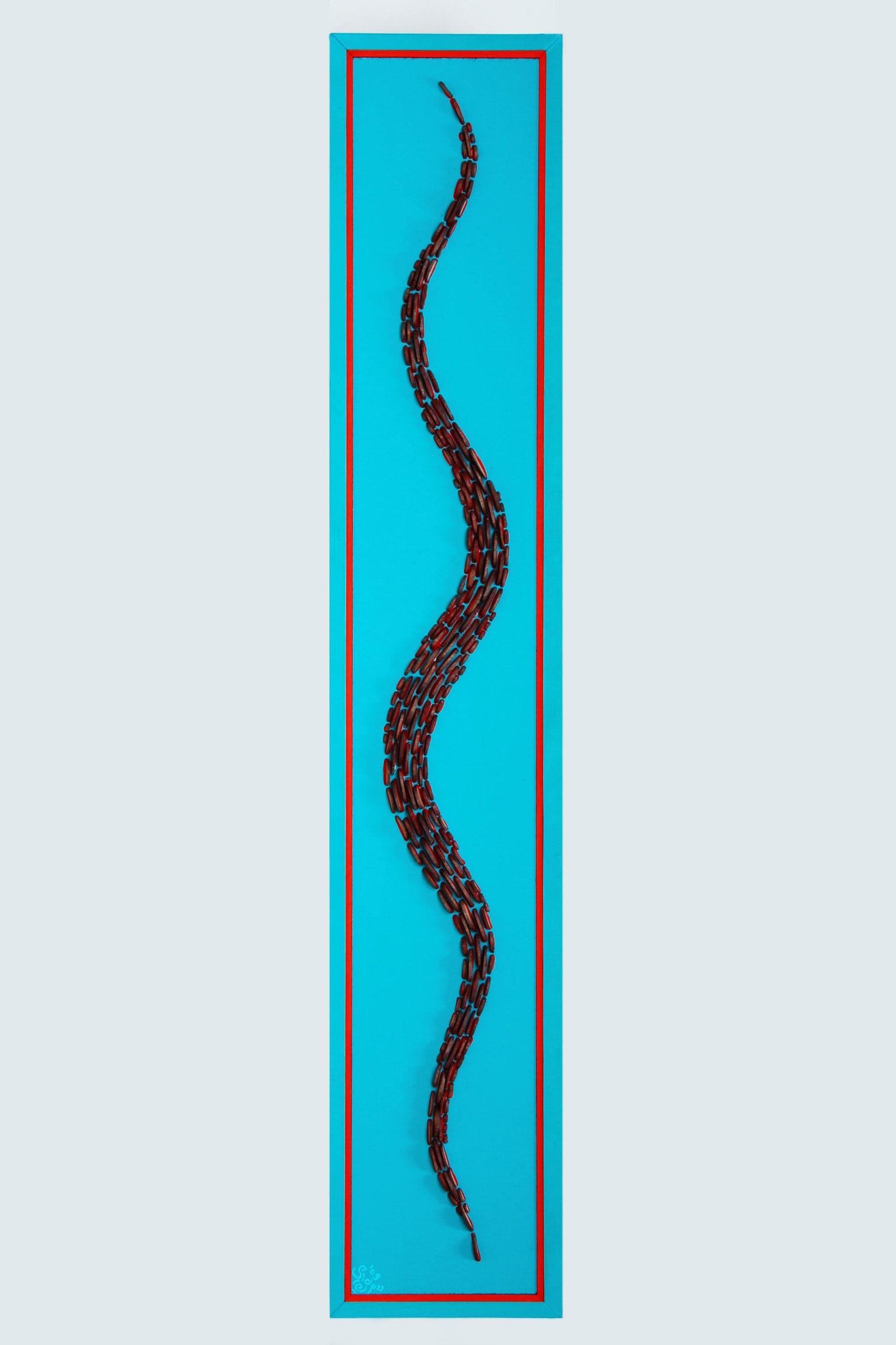 Bild 1,00 x 0,20m - Holzscheiben halbiert (2014) verk.