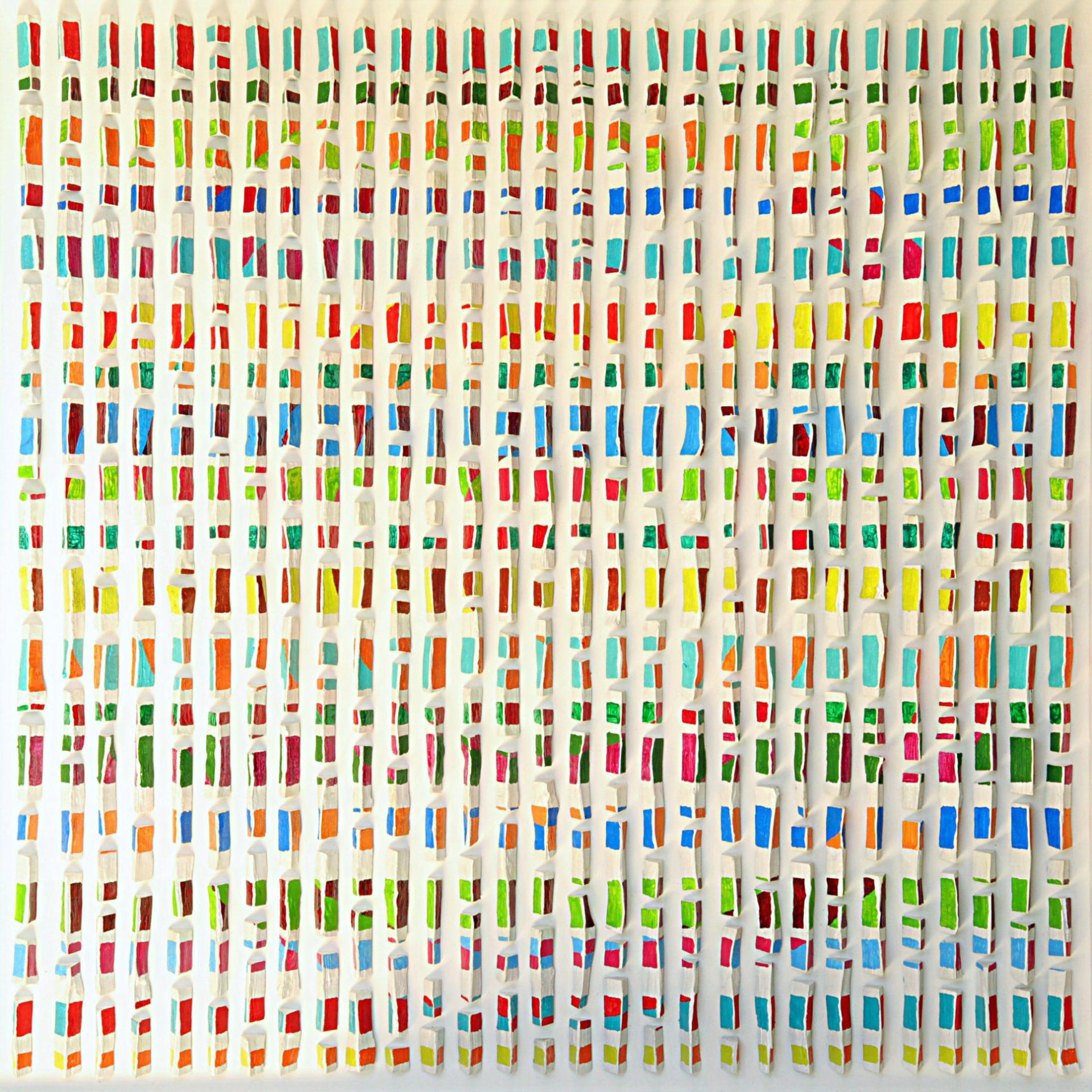 Bild 1,00 x 1,00m – Buchenholzachtel (2017) verk.