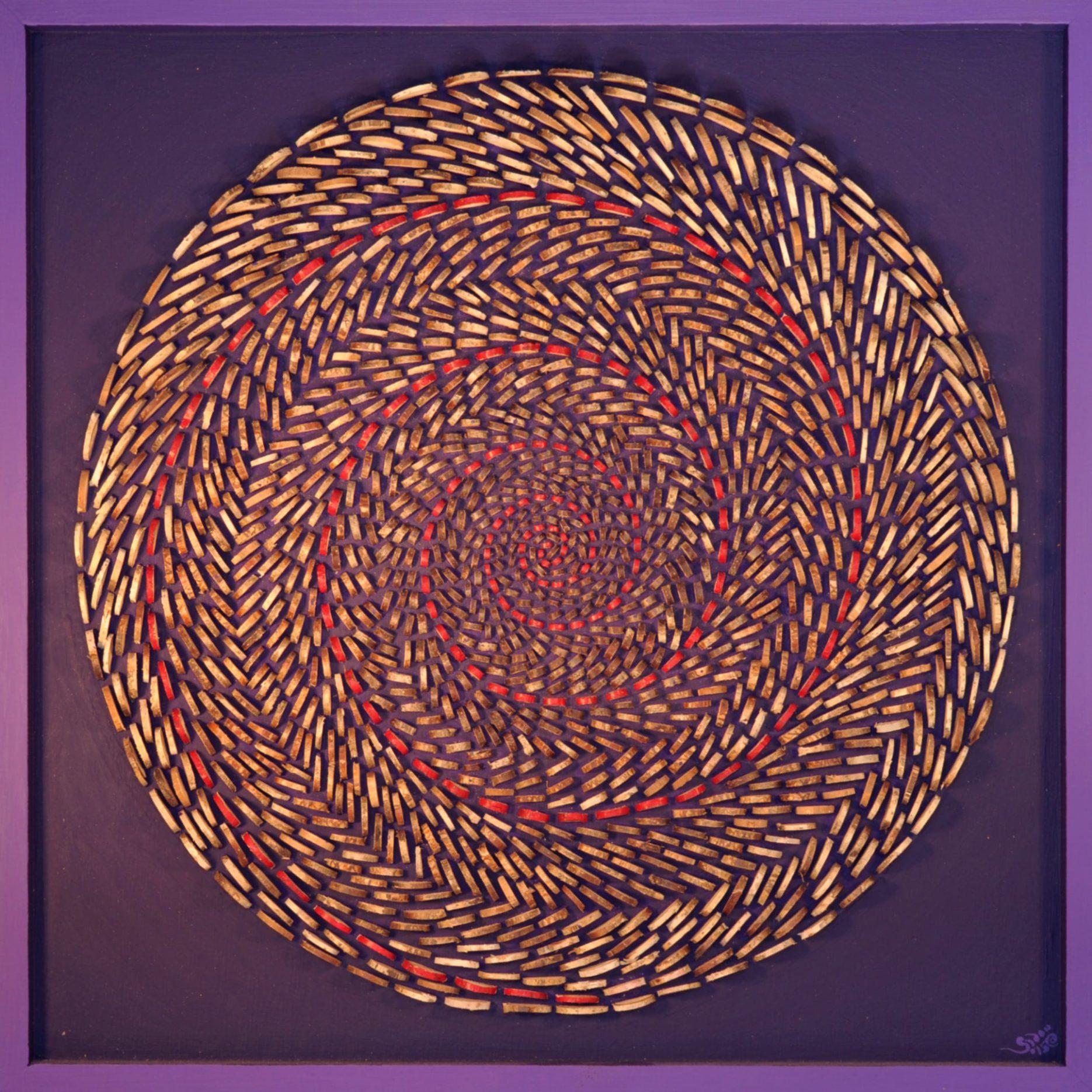 Bild 0,50 x 0,50m – Holzscheiben halbiert (2017)