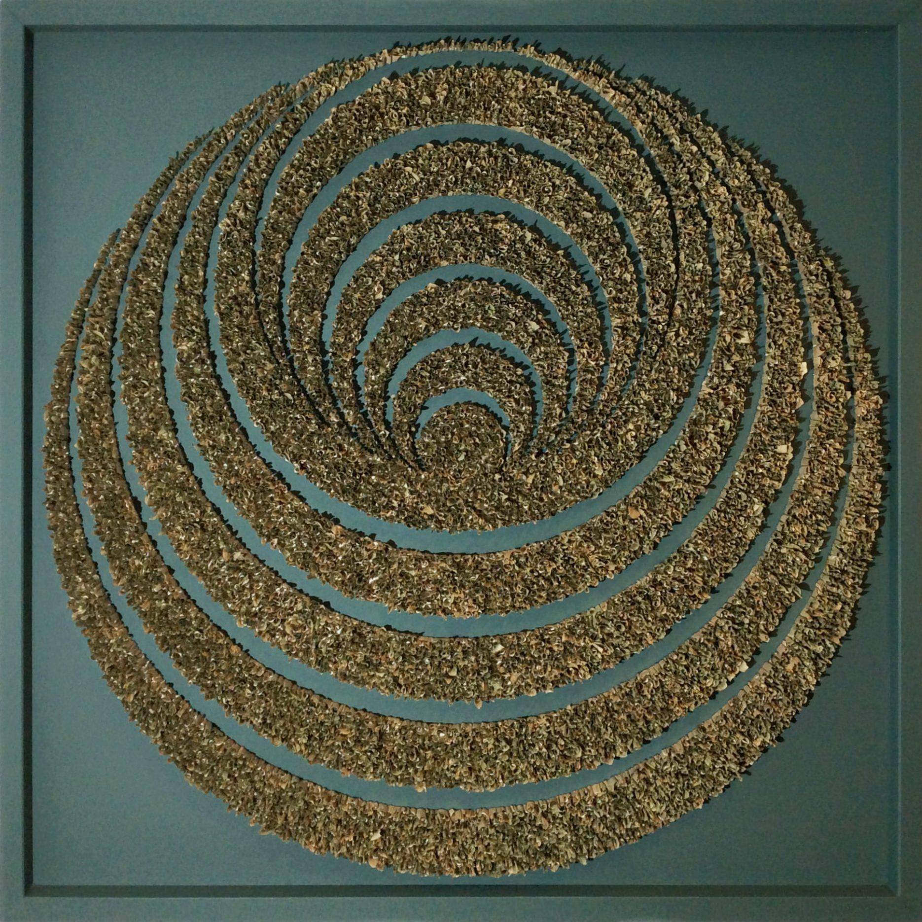 Bild 1,20 x 1,20m – Maisblattelemente gerollt (2020)