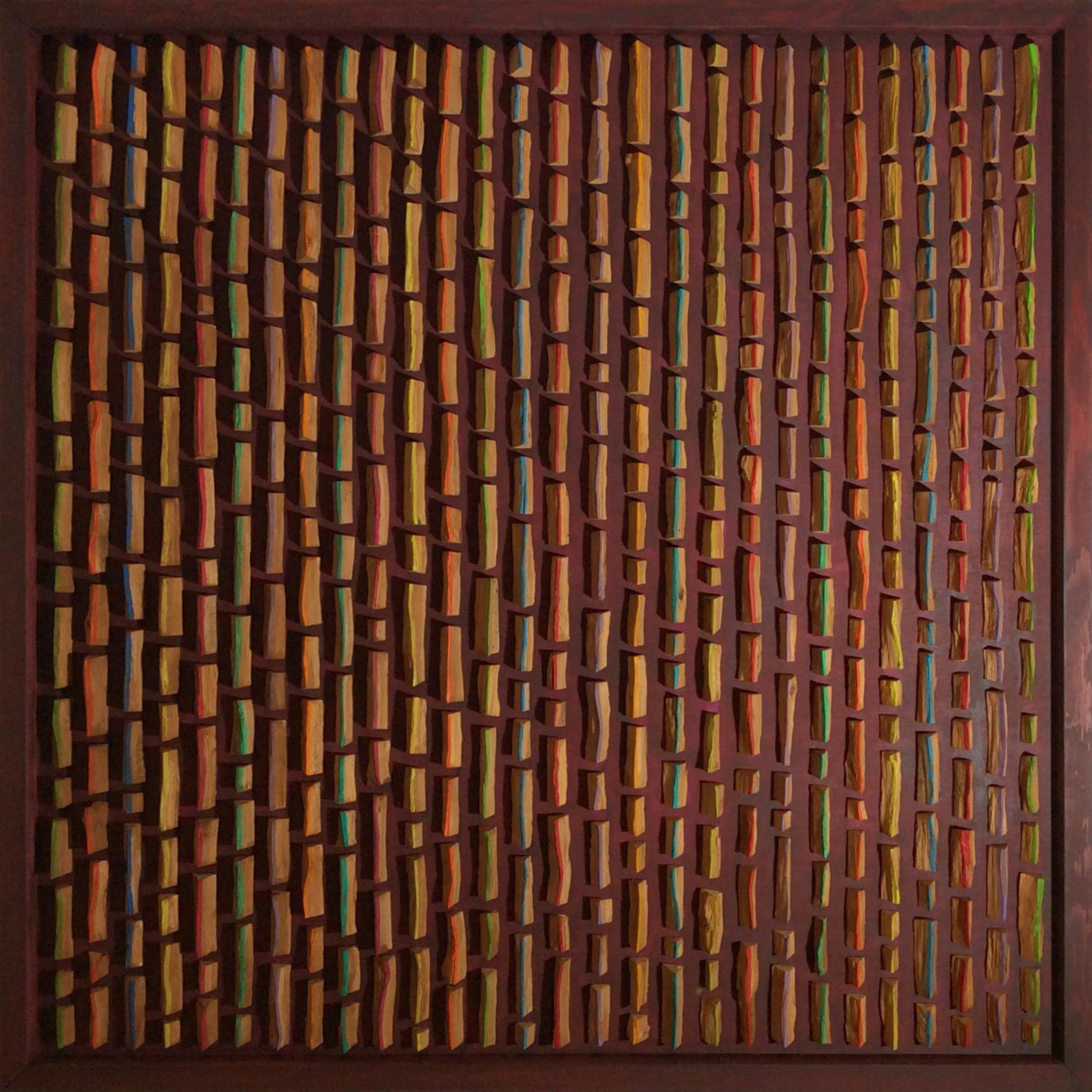 Bild 1,00 x 1,00m – Buchenholzelemente (2017)