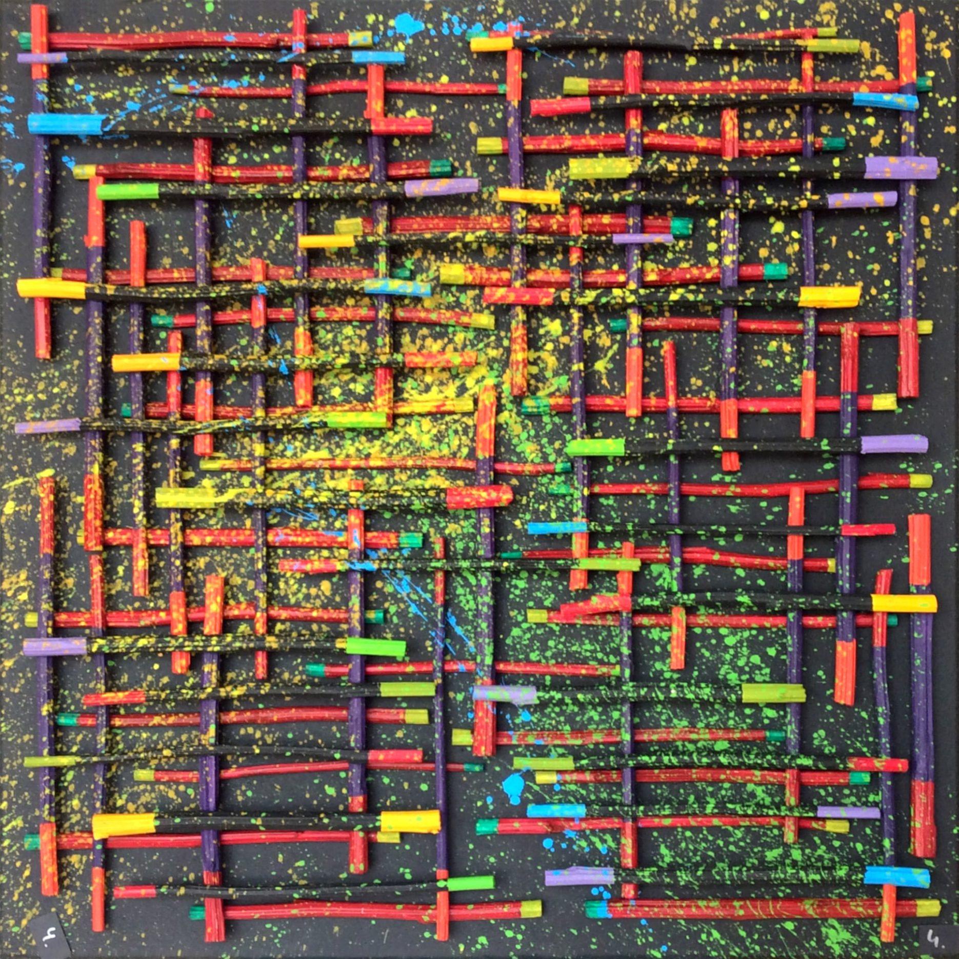 Bild 0,70 x 0,70 m Rapsstangen (2019)