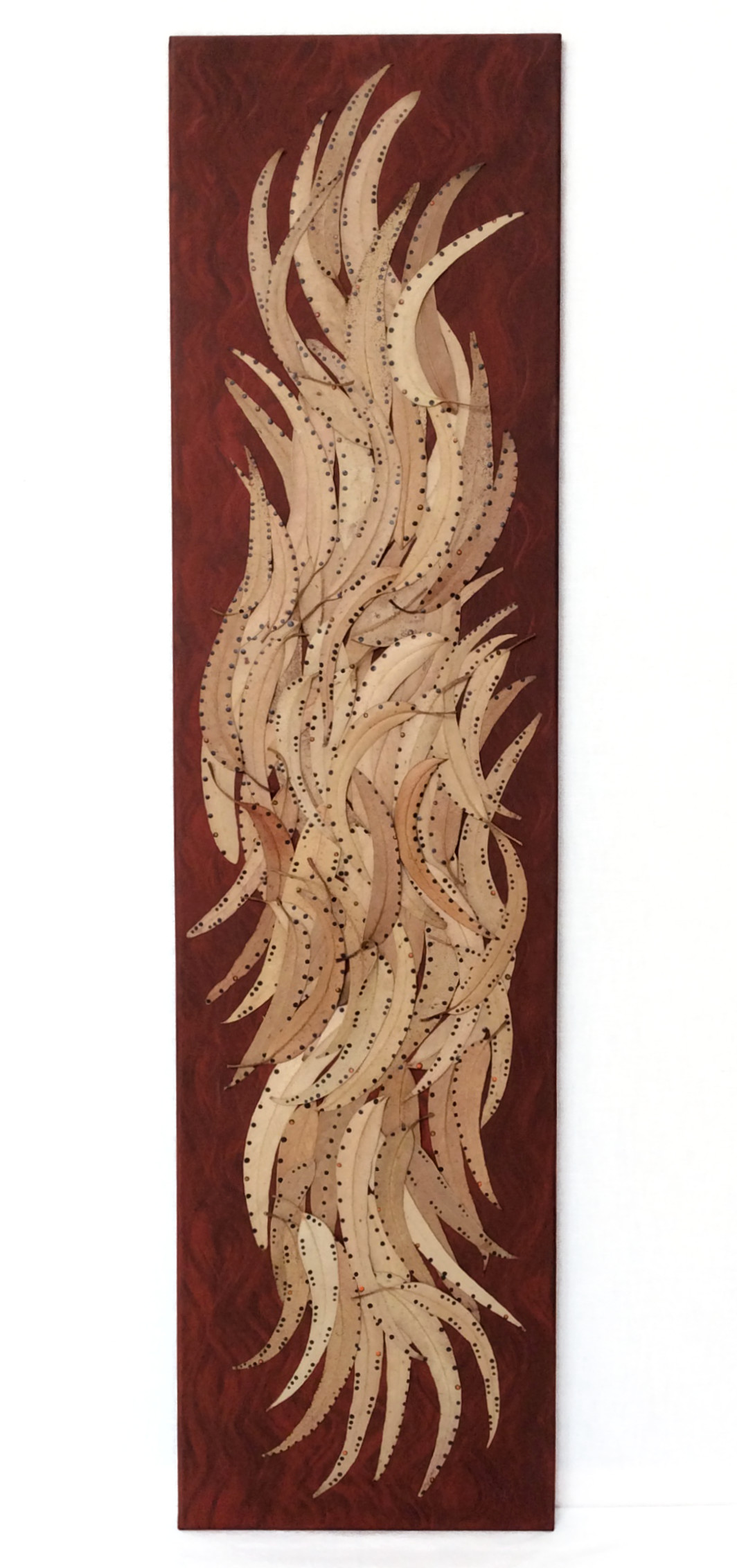 Bild 1,20 x 0,30 m Eukalyptusblätter (2018)
